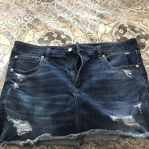 Next-level stretch denim mini skirt